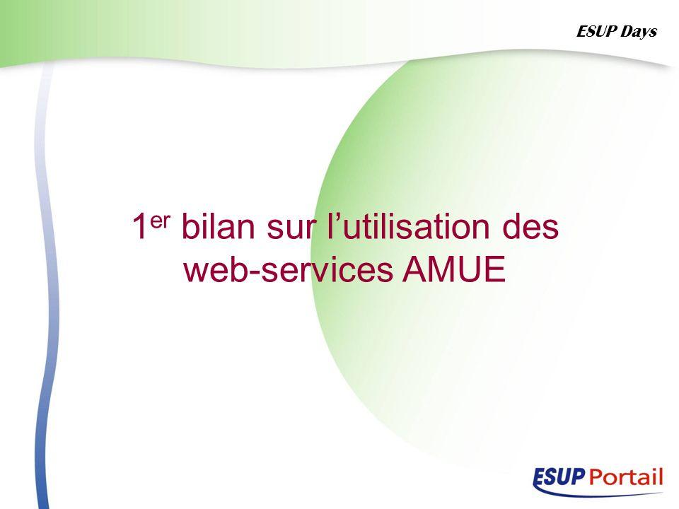 1er bilan sur l'utilisation des web-services AMUE