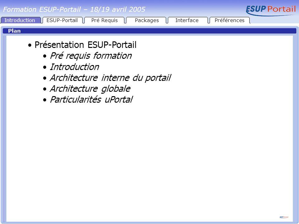 Présentation ESUP-Portail Pré requis formation Introduction