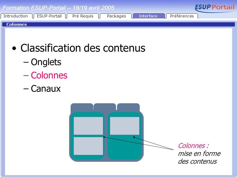 Classification des contenus
