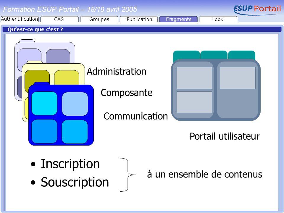 Inscription Souscription Administration Composante Communication