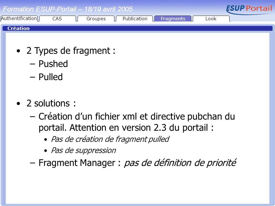Fragment Manager : pas de définition de priorité