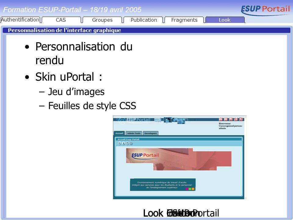 Personnalisation du rendu Skin uPortal :