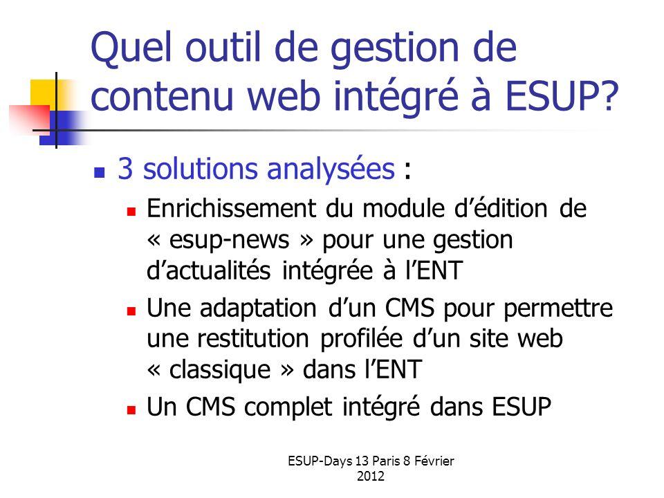 Quel outil de gestion de contenu web intégré à ESUP