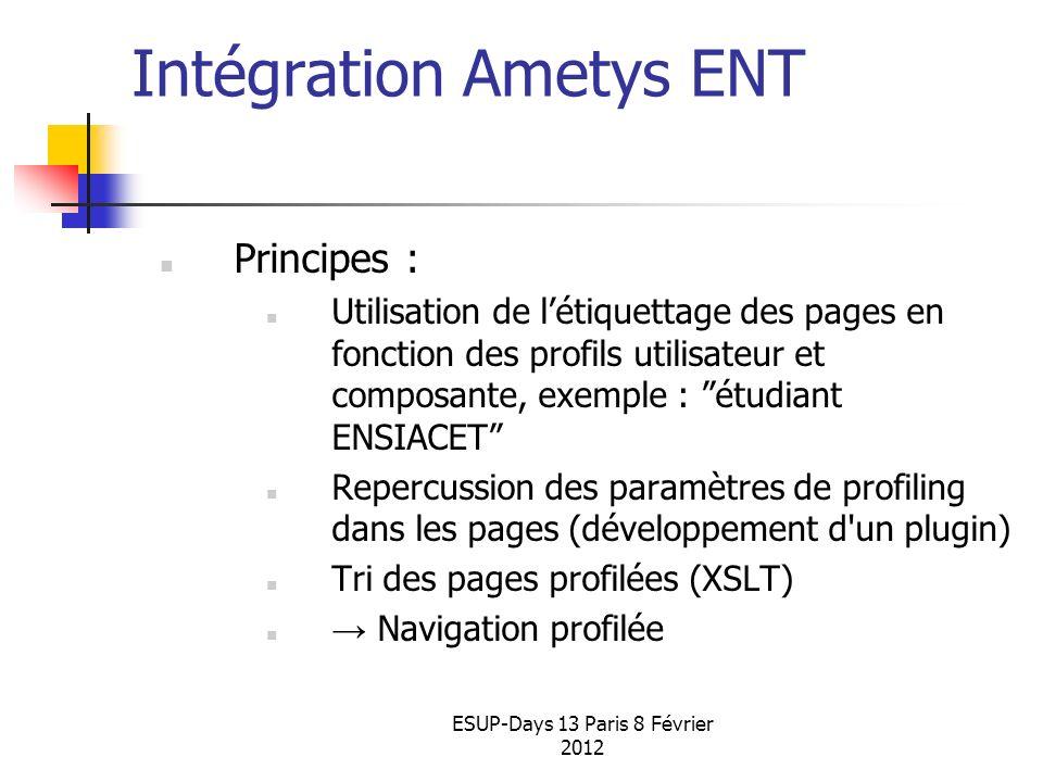 Intégration Ametys ENT INP Toulouse 2012