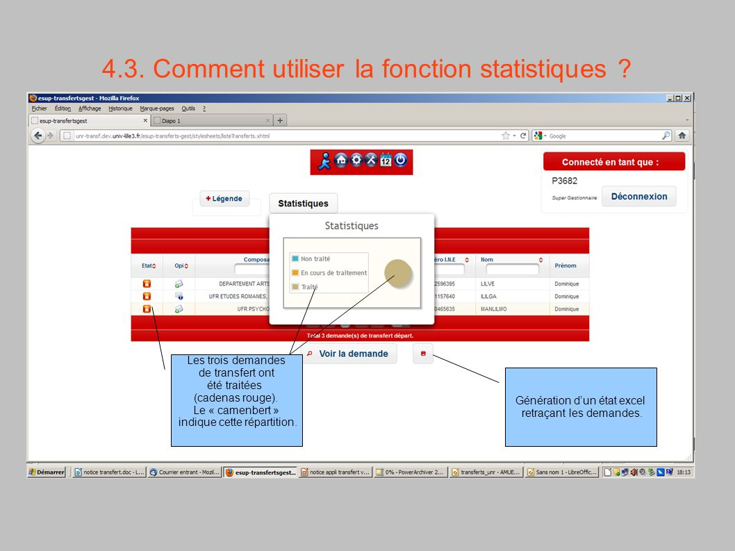 4.3. Comment utiliser la fonction statistiques