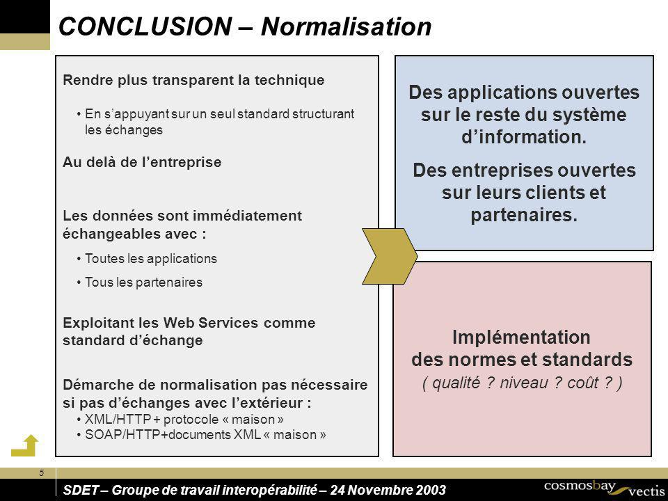 CONCLUSION – Normalisation