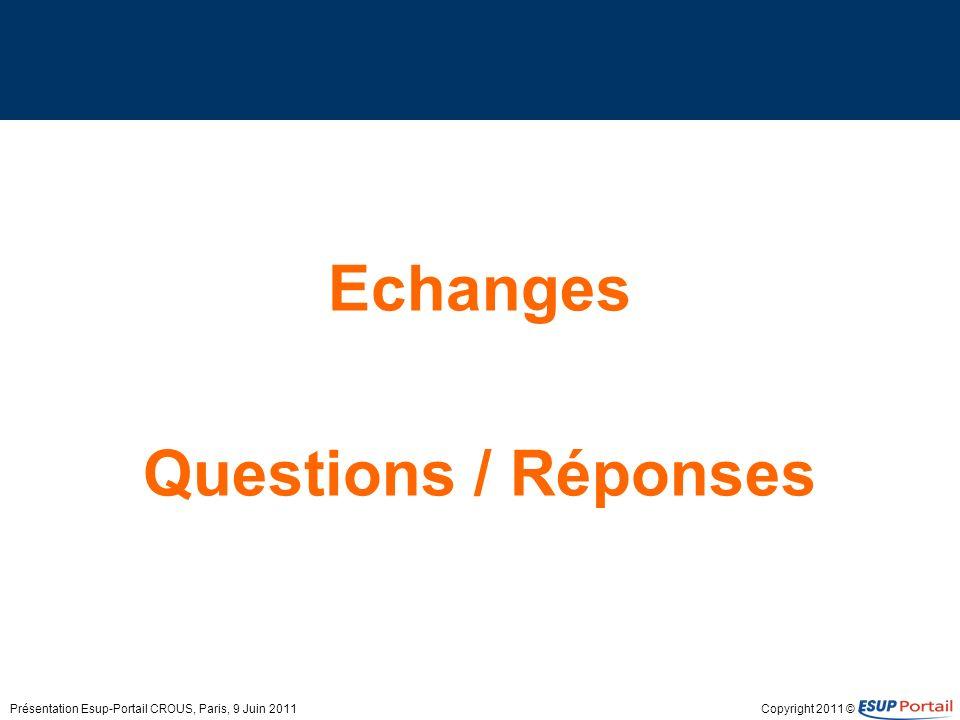 Echanges Questions / Réponses