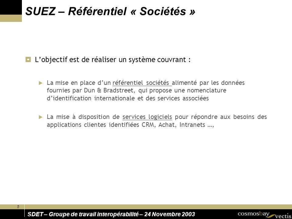 SUEZ – Référentiel « Sociétés »
