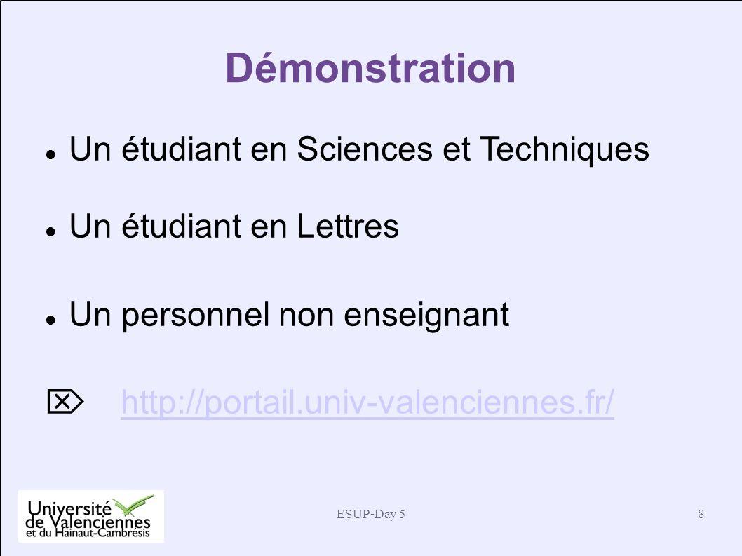 Démonstration Un étudiant en Sciences et Techniques