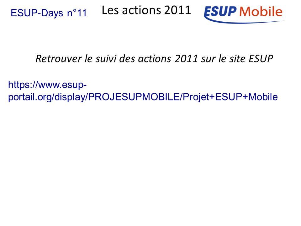 Retrouver le suivi des actions 2011 sur le site ESUP