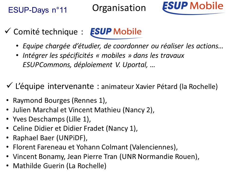 Organisation Comité technique :