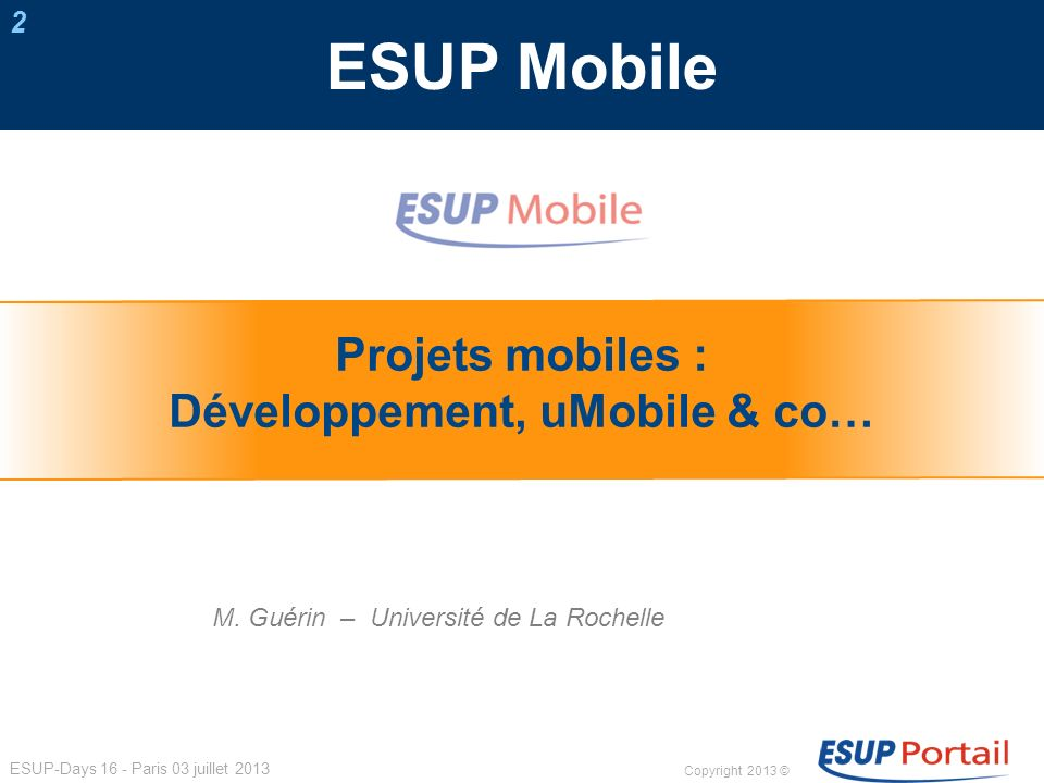 Développement, uMobile & co…