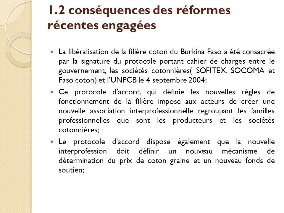 1.2 conséquences des réformes récentes engagées