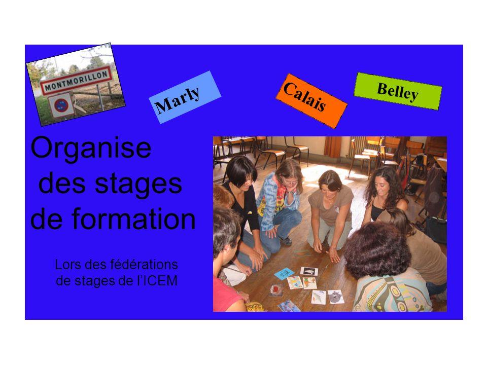 Organise des stages de formation