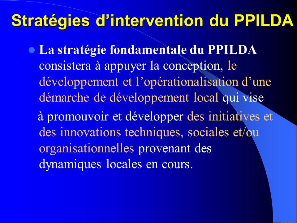 Stratégies d'intervention du PPILDA