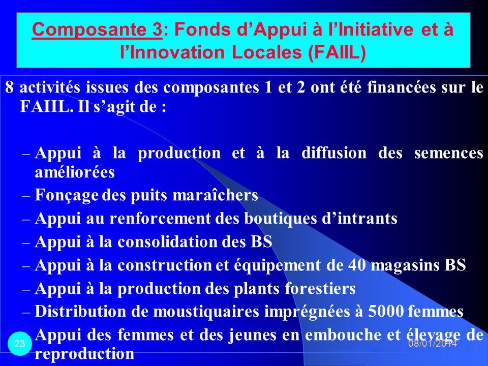 Composante 3: Fonds d'Appui à l'Initiative et à l'Innovation Locales (FAIIL)