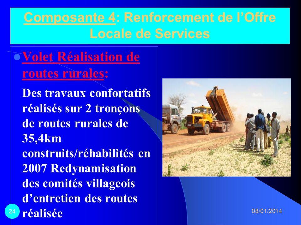Composante 4: Renforcement de l'Offre Locale de Services