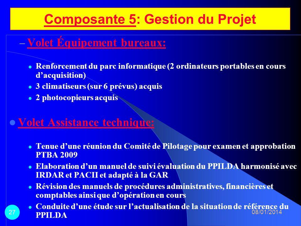 Composante 5: Gestion du Projet