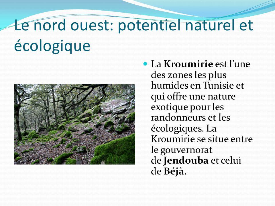 Le nord ouest: potentiel naturel et écologique
