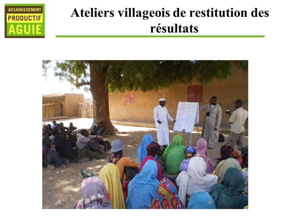 Ateliers villageois de restitution des résultats