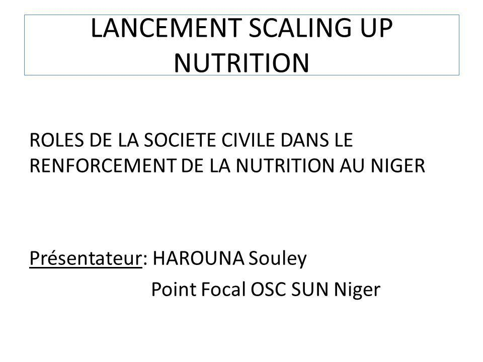 LANCEMENT SCALING UP NUTRITION