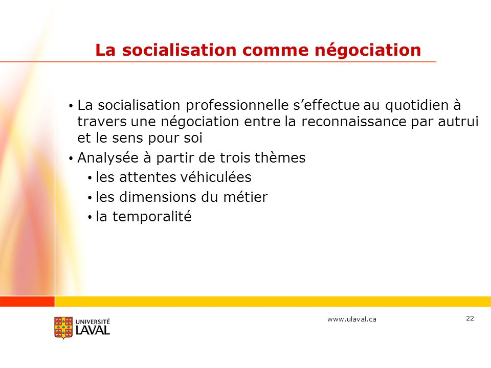 La socialisation comme négociation