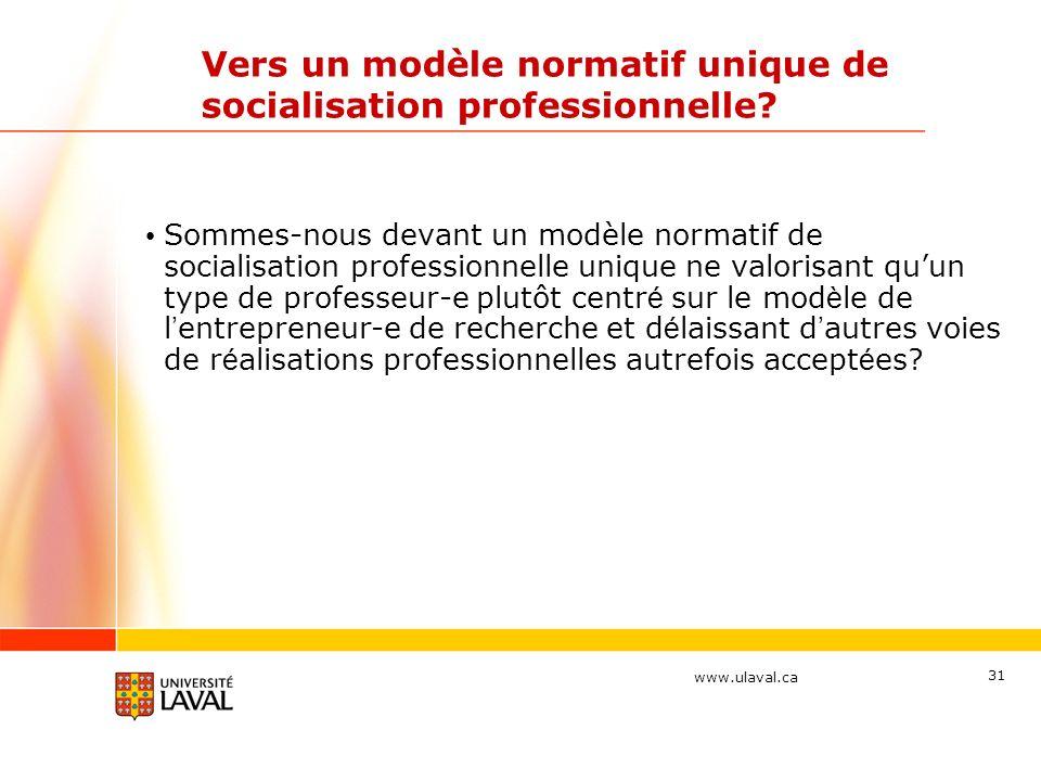 Vers un modèle normatif unique de socialisation professionnelle