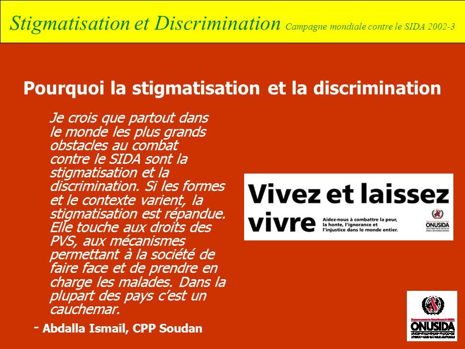 Pourquoi la stigmatisation et la discrimination