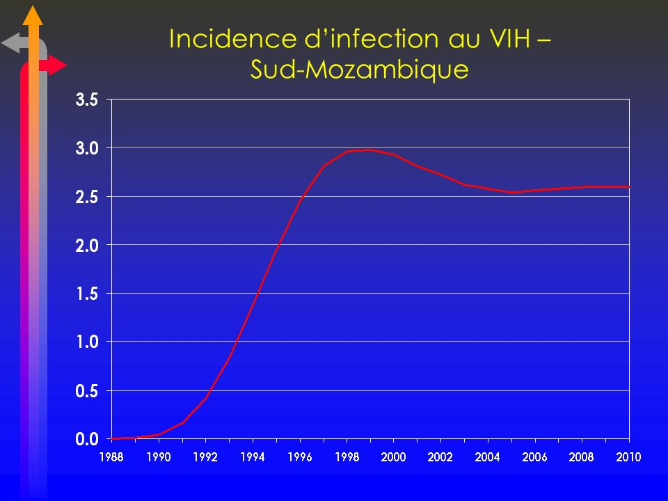 Incidence d'infection au VIH – Sud-Mozambique