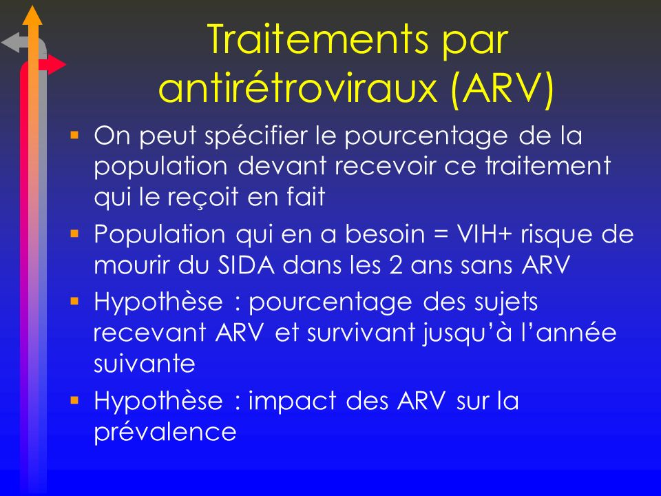 Traitements par antirétroviraux (ARV)