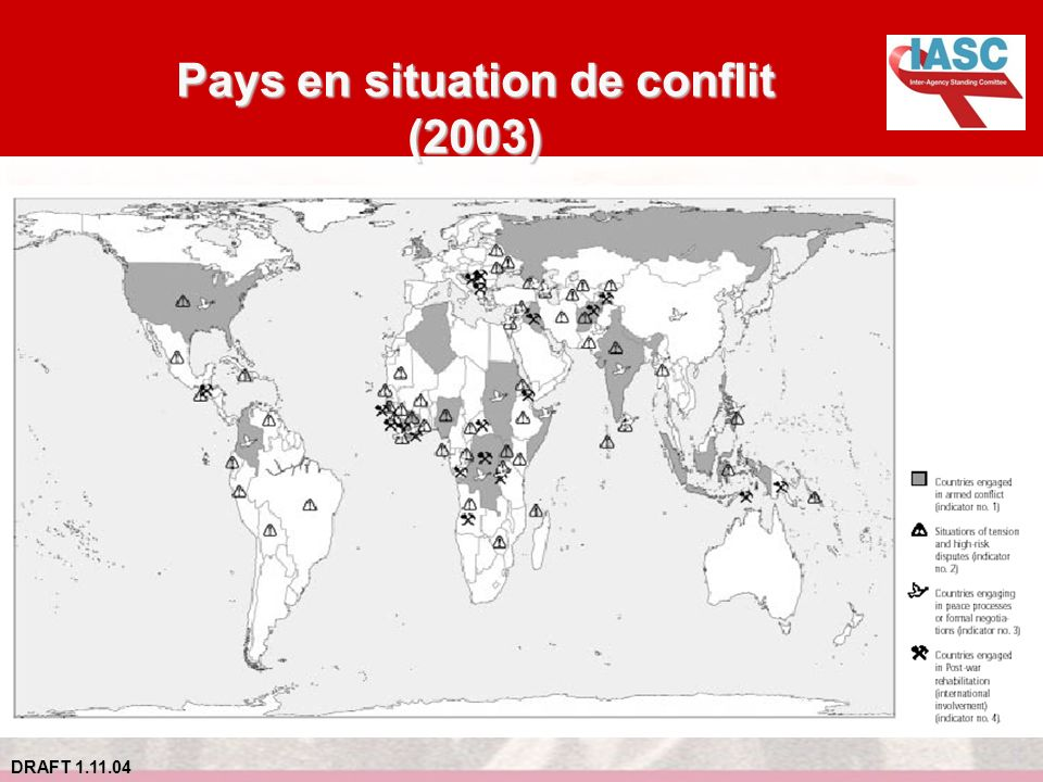Pays en situation de conflit (2003)