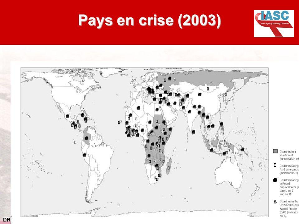 Pays en crise (2003) Cette diapositive donne un aperçu des autres crises en 2003.