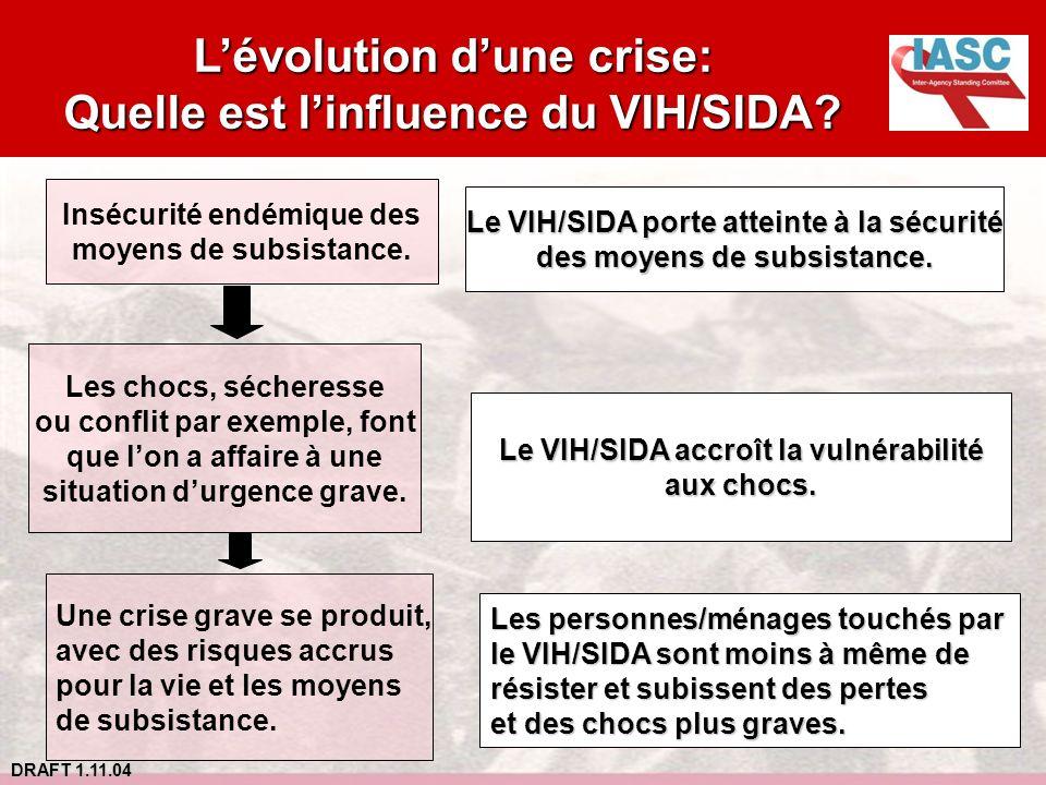 L'évolution d'une crise: Quelle est l'influence du VIH/SIDA