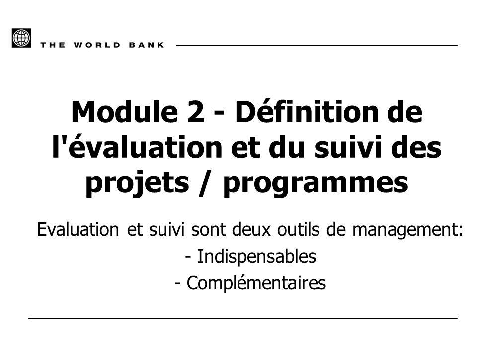 Evaluation et suivi sont deux outils de management: