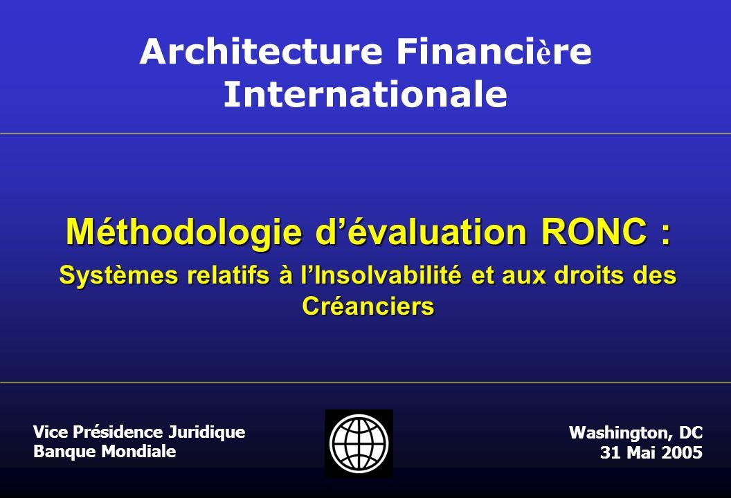 Méthodologie d'évaluation RONC :