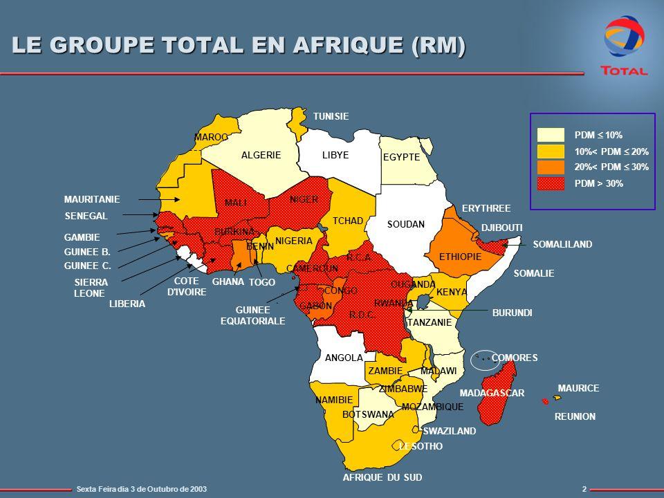 LE GROUPE TOTAL EN AFRIQUE (RM)