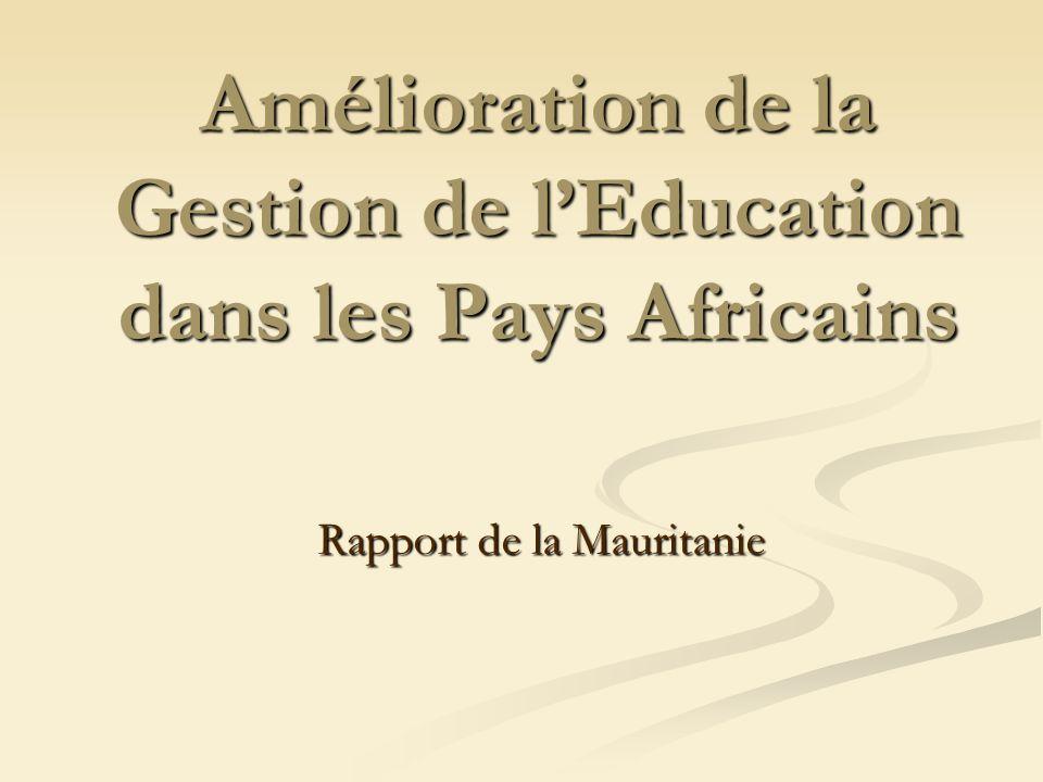 Amélioration de la Gestion de l'Education dans les Pays Africains