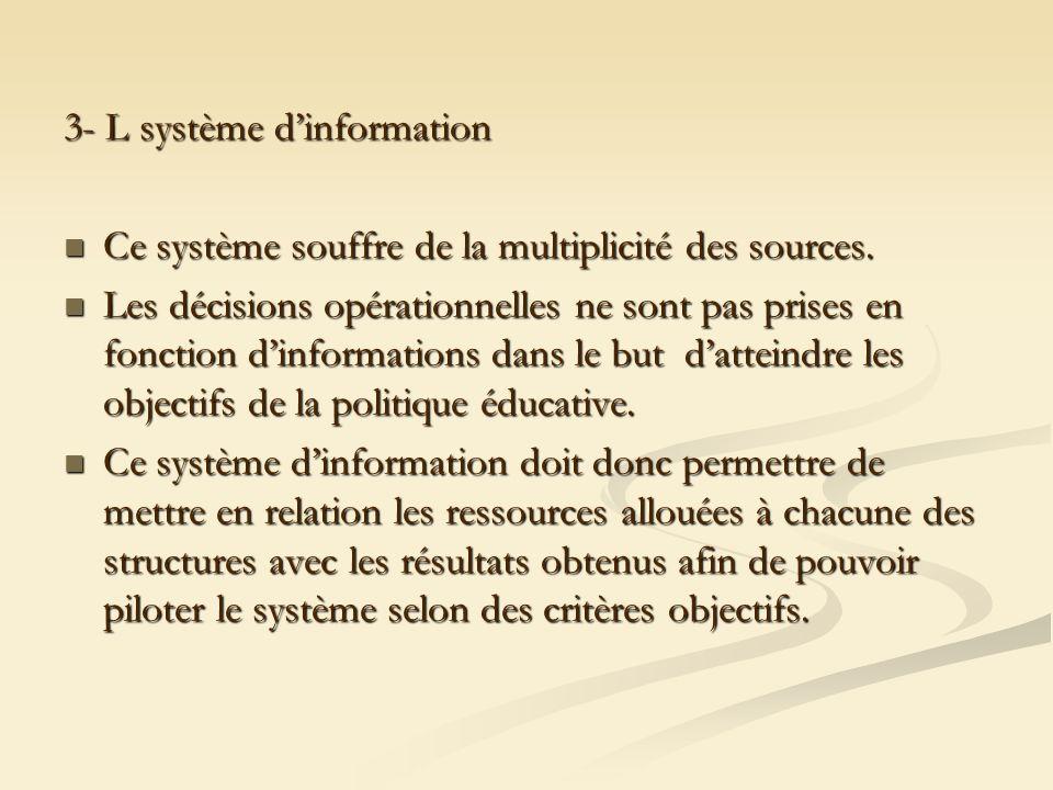 3- L système d'information