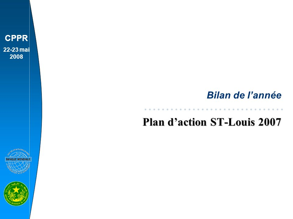 Plan d'action ST-Louis 2007