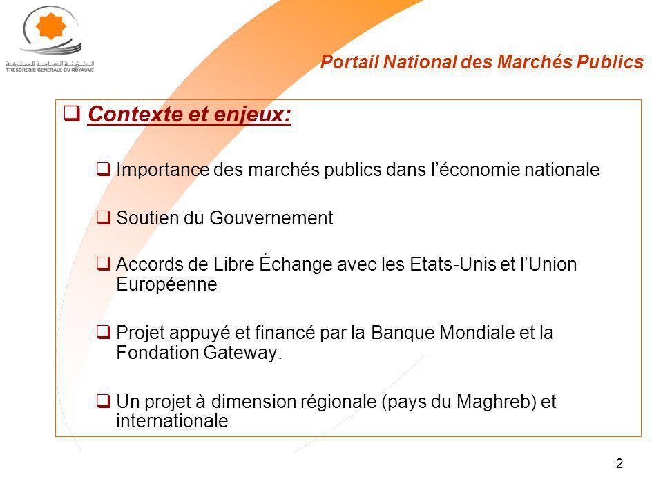 Portail National des Marchés Publics
