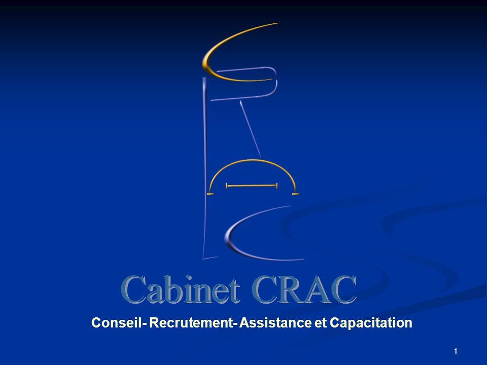 Conseil- Recrutement- Assistance et Capacitation