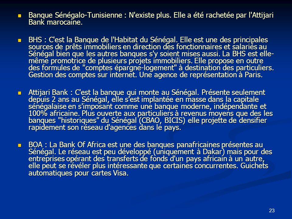 Banque Sénégalo-Tunisienne : N existe plus