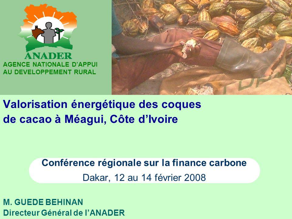 Valorisation énergétique des coques de cacao à Méagui, Côte d'Ivoire