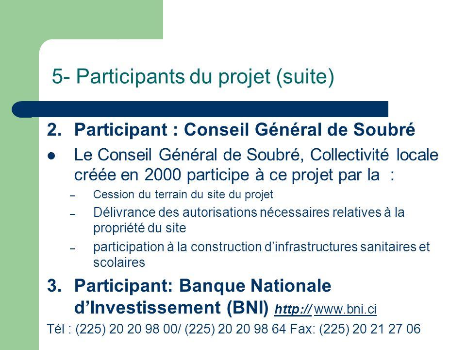 5- Participants du projet (suite)