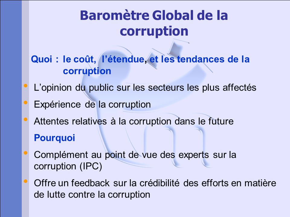 Baromètre Global de la corruption