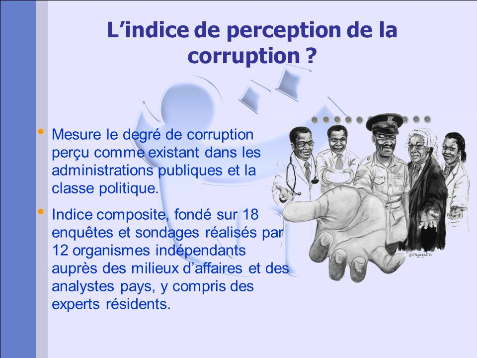 L'indice de perception de la corruption