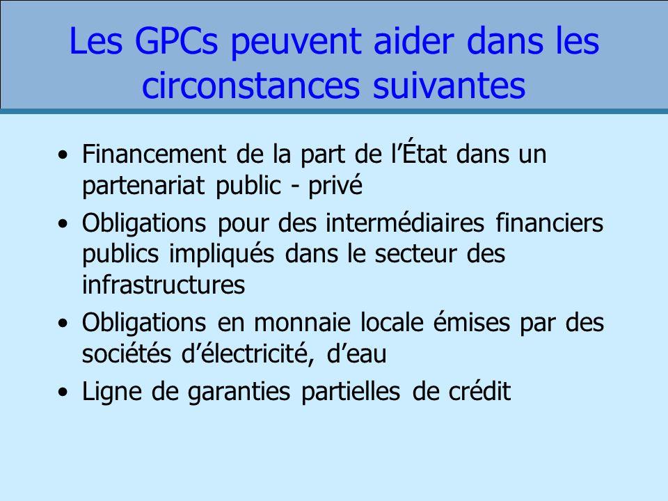 Les GPCs peuvent aider dans les circonstances suivantes