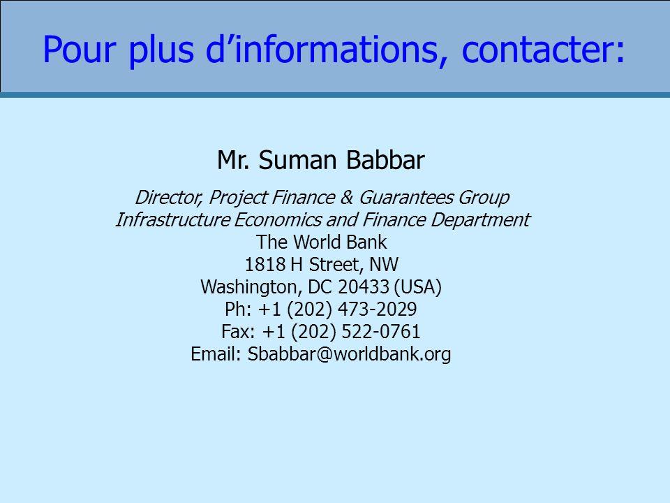 Pour plus d'informations, contacter: