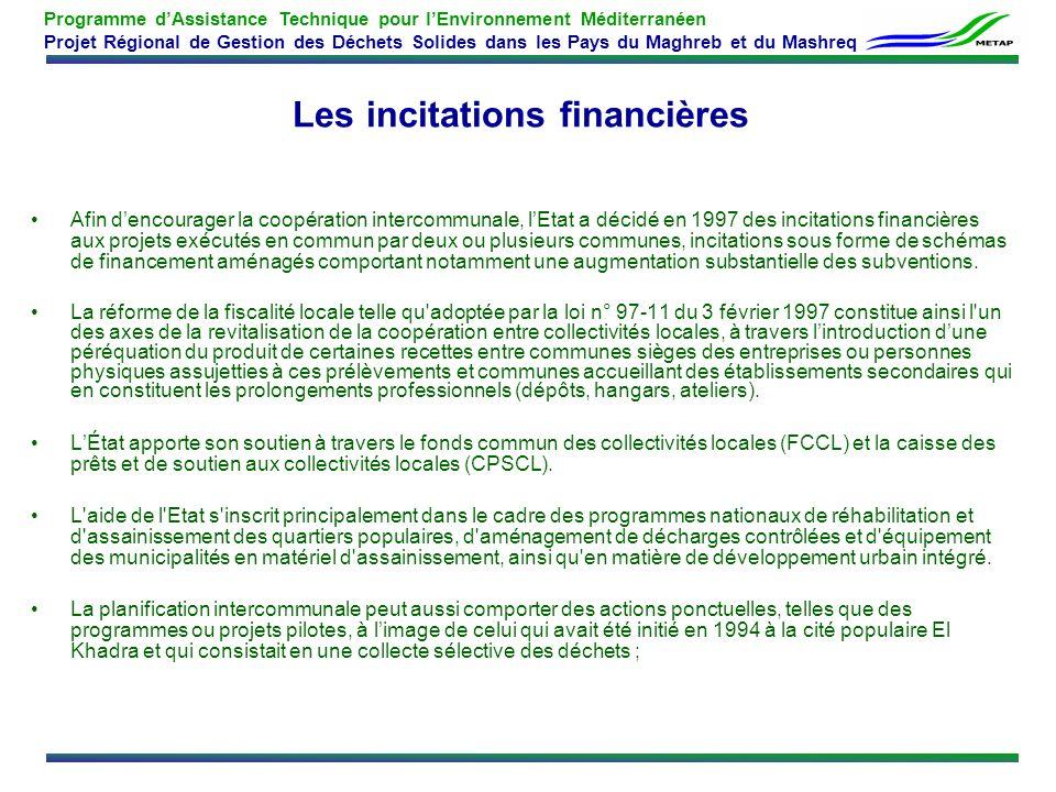 Les incitations financières