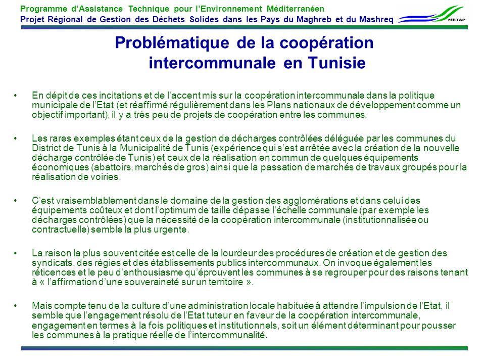 Problématique de la coopération intercommunale en Tunisie